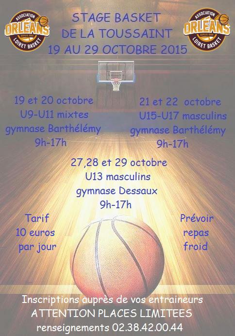 Orl Ans Loiret Basket Olb Stages